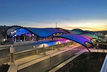 greater rochester international airport etfe membrane canopy renovation
