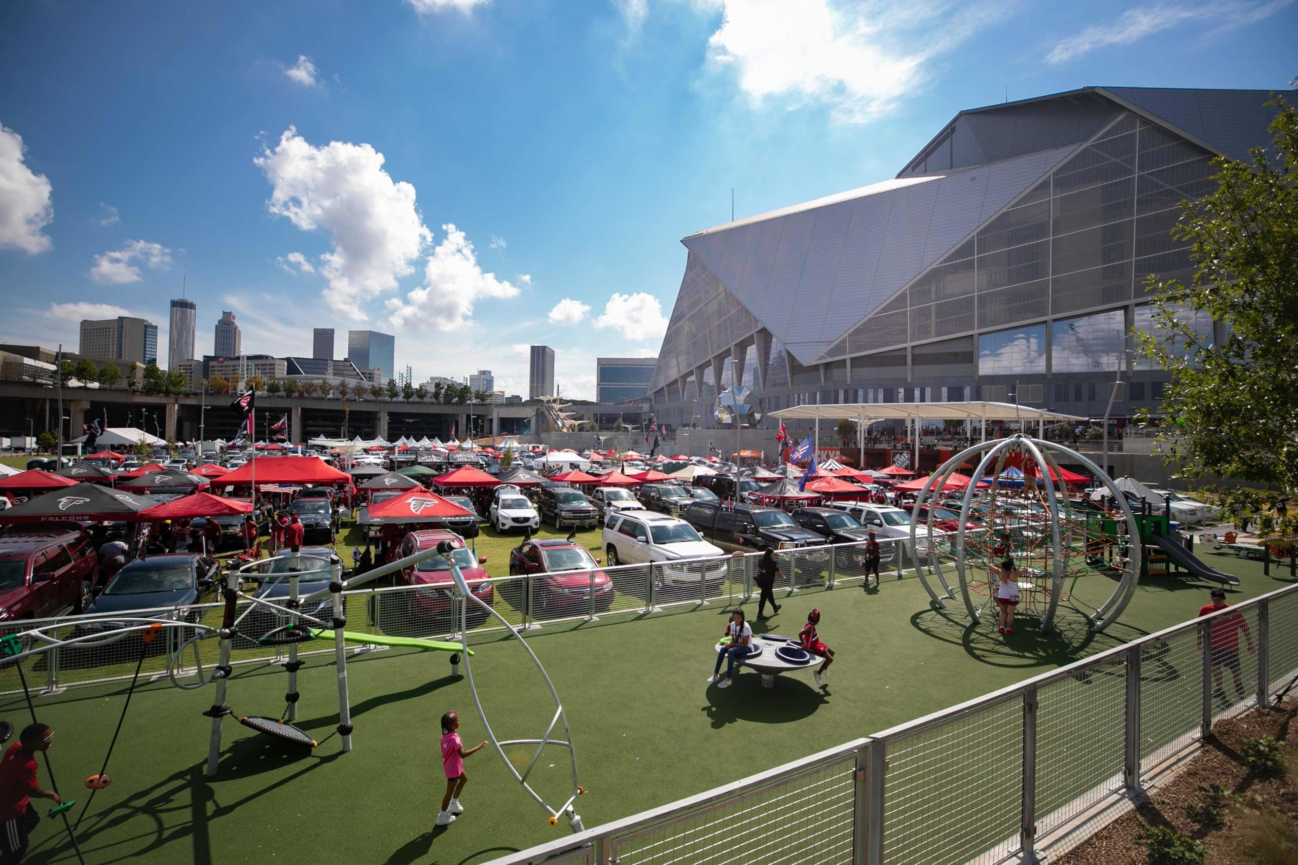 Home Depot Backyard Fabric Structures to Shelter Super Bowl Attendees