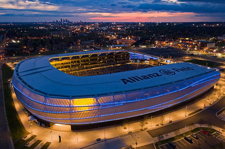 Minnesota United FC Allianz Field stadium PTFE tensile membrane building envelope