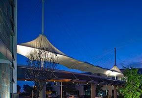 illumina pedestrian bridge lightweight structure