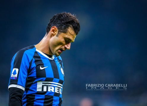 Antonio Candreva of FC Internazionale during the Serie A match between FC Internazionale and Atalanta BC at the San Siro Stadium, Milan, Italy on 11 January 2020 - Photo Fabrizio Carabelli