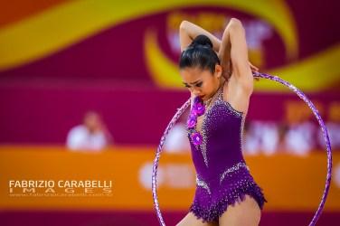 Baku, Azerbaijan - 09/19/2019: FIG Rhythmic Gymnastics World Championships 2019 Baku (AZE) - AMZAN (MAS)