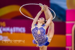 Baku, Azerbaijan - 09/19/2019: FIG Rhythmic Gymnastics World Championships 2019 Baku (AZE) - KELAIDITI (GRE)