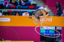 Baku, Azerbaijan - 09/19/2019: FIG Rhythmic Gymnastics World Championships 2019 Baku (AZE) - PAZHAVA (GEO)