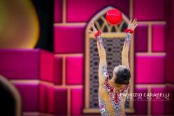 Baku, Azerbaijan - 09/19/2019: FIG Rhythmic Gymnastics World Championships 2019 Baku (AZE) - MINAGAWA (JPN)