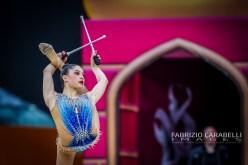 Baku, Azerbaijan - 09/19/2019: FIG Rhythmic Gymnastics World Championships 2019 Baku (AZE) - Baldassarri (ITA)