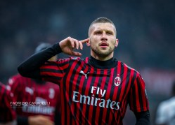 Ante Rebic of AC Milan celebrates the goal during the Serie A 2019/20 match between AC Milan vs Torino FC at the San Siro Stadium, Milan, Italy on February 17, 2020 - Photo Fabrizio Carabelli
