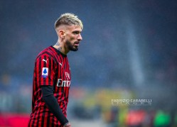 Samu Castillejo of AC Milan during the Serie A 2019/20 match between AC Milan vs Torino FC at the San Siro Stadium, Milan, Italy on February 17, 2020 - Photo Fabrizio Carabelli
