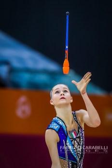 Baku, Azerbaijan - 09/19/2019: FIG Rhythmic Gymnastics World Championships 2019 Baku (AZE) - Maffeis (ITA)