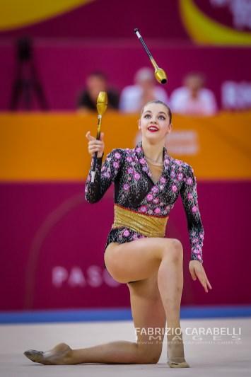 Baku, Azerbaijan - 09/19/2019: FIG Rhythmic Gymnastics World Championships 2019 Baku (AZE) - Hudis (AZE)