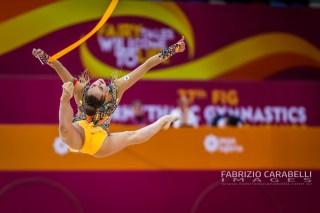 Baku, Azerbaijan - 09/19/2019: FIG Rhythmic Gymnastics World Championships 2019 Baku (AZE) - Harnasko (BLR)