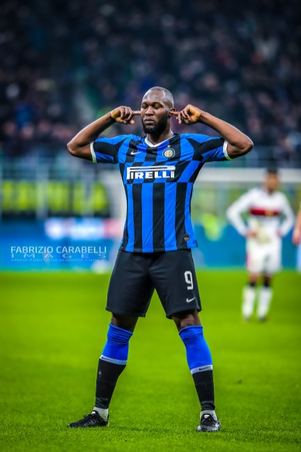 Romelu Lukaku of FC Internazionale during the Serie A match between FC Internazionale and Genoa CFC at the San Siro Stadium, Milan, Italy on 21 December 2019 - Photo Fabrizio Carabelli