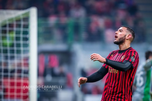 Theo Hernandez of AC Milan during the Serie A match between AC Milan and US Sassuolo at the San Siro Stadium, Milan, Italy on 15 December 2019 - Photo Fabrizio Carabelli