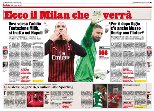 Pubbl. 20_03_2020 La Gazzetta dello Sport Donnarumma FCI_8969