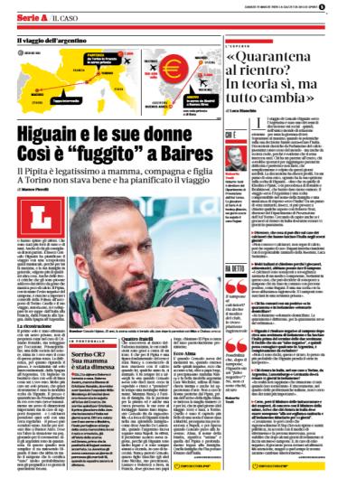 Pubbl. 21_03_2020 La Gazzetta dello Sport Higuain FCI_0016
