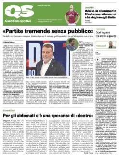 Pubbl. 26_05_2020 IL GIORNO Ibrahimovic