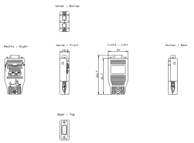 Wtyczka RS485 PROFIBUS SIMATIC DP transmisja 12 Mbit/s