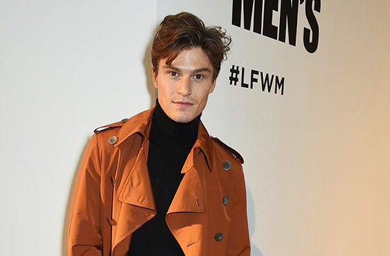LONDON, ENGLAND - JANUARY 07: Oliver Cheshire attends the Oliver Spencer AW17 Catwalk Show during London Fashion Week Men's January 2017 at the BFC Show Space on January 7, 2017 in London, England. Pic Credit: Dave Benett