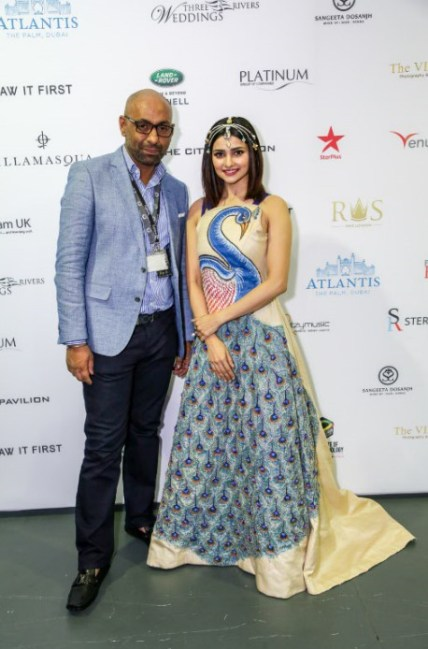 Founder Of National Asian Wedding Show Mr. Manny Singh & Bollywood Actress Ms. Prachi Desai