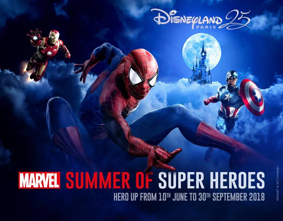 Marvel Summer of super heroes Disneyland Paris