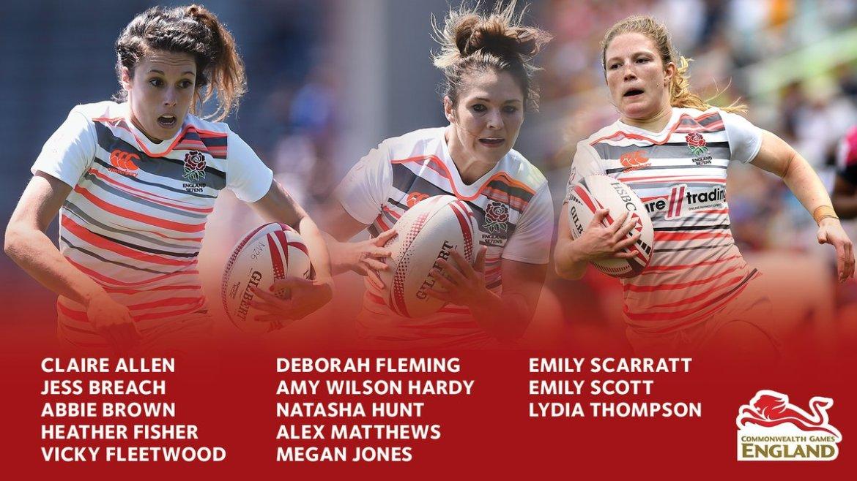 Women's Sevens Squad Team England 