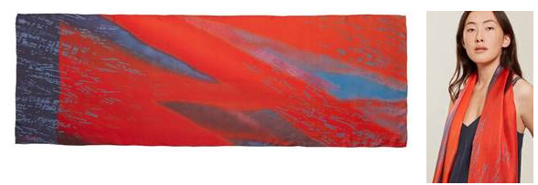 Lucy hall design flame silk scarf