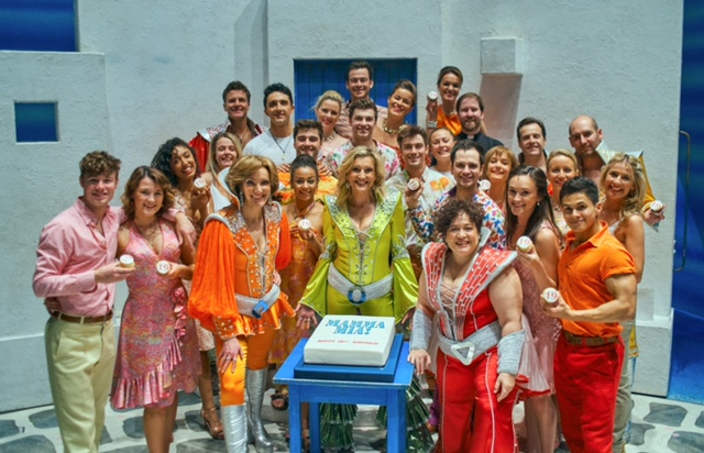 The London Cast Of MAMMA MIA! On Stage At The Novello Theatre For 19th Birthday, Credit Gavin Nugent 1