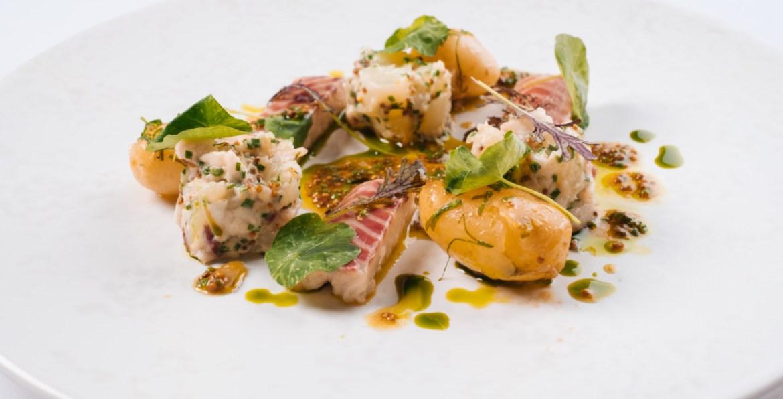Jersey royal, smoked eel, and nasturtium salad recipe steve smith at bohemia (2)