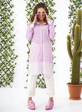 Modanisa ramadan trends 2018 pink white tunic