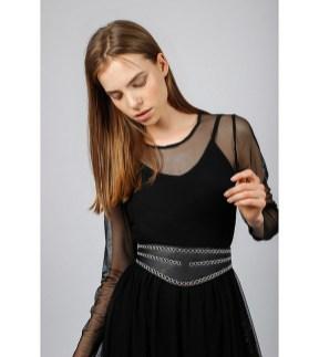 Eyelet curved corset belt