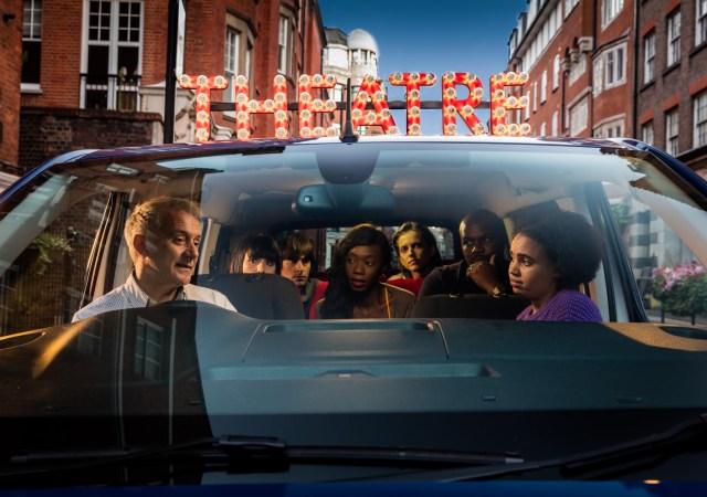Theatre opens in a car