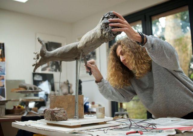 Nicola farhi in her studio