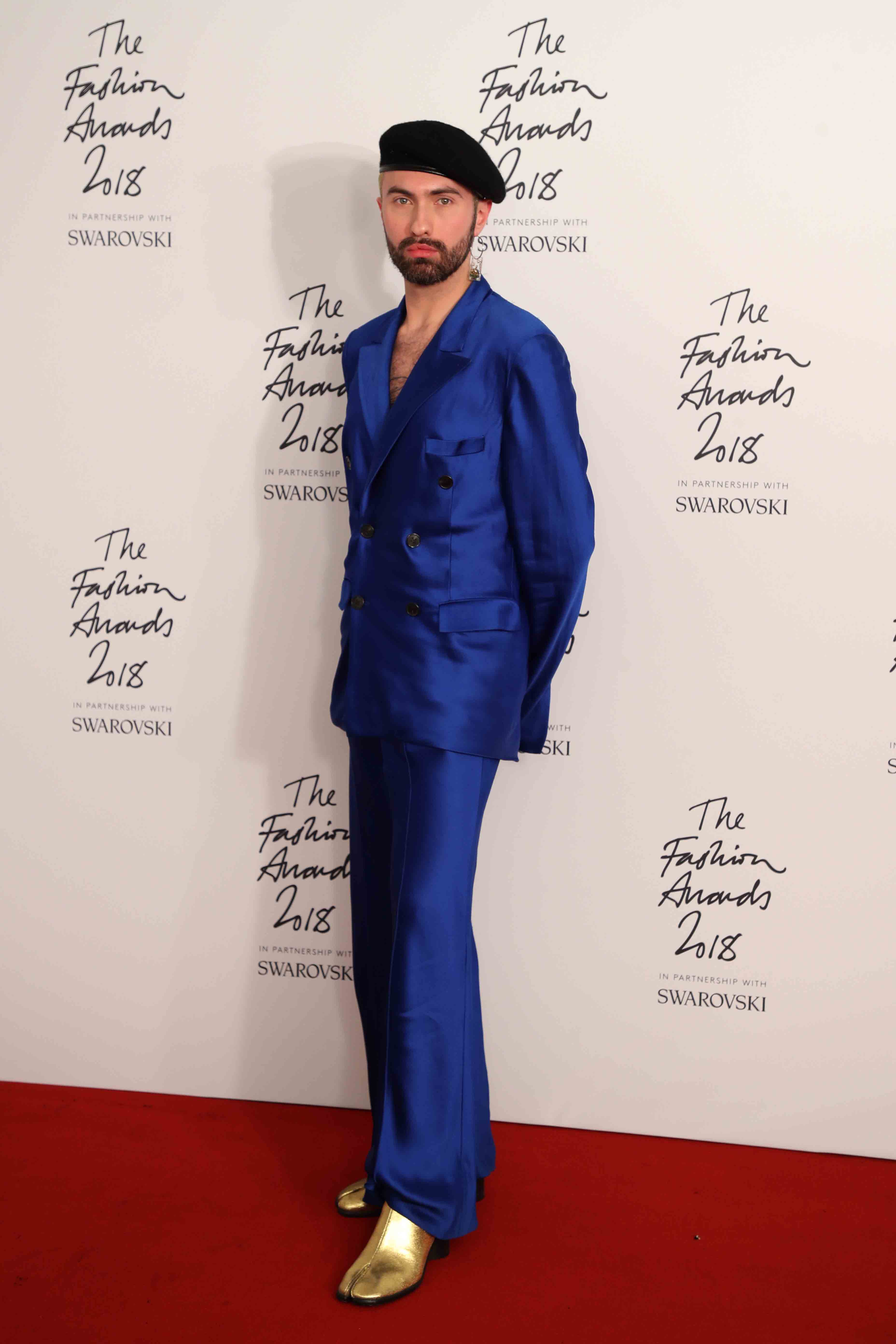 The fashion awards 2018 in partnership with swarovski winners room