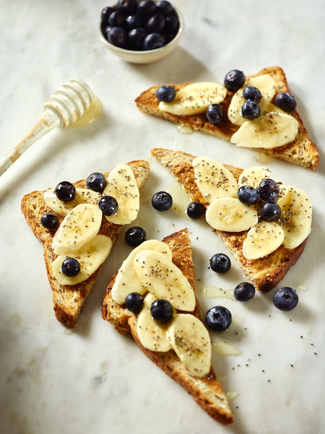 Banana & blueberry slice