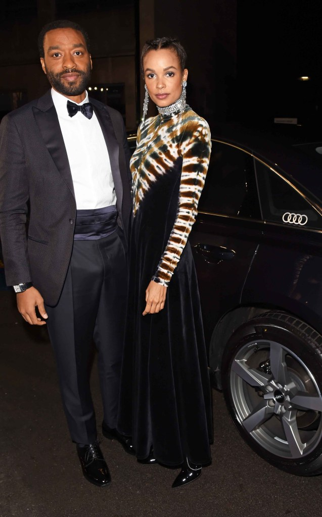 Chiwetel ejiofor & frances aaternir arrive in an audi at the ee british academy film awards at the royal albert hall, london, sunday 10 february 2019