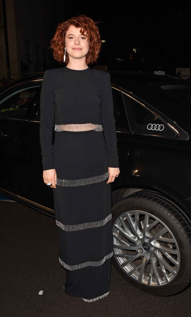 Jessie buckley arrives in an audi at the ee british academy film awards at the royal albert hall, london, sunday 10 february 2019