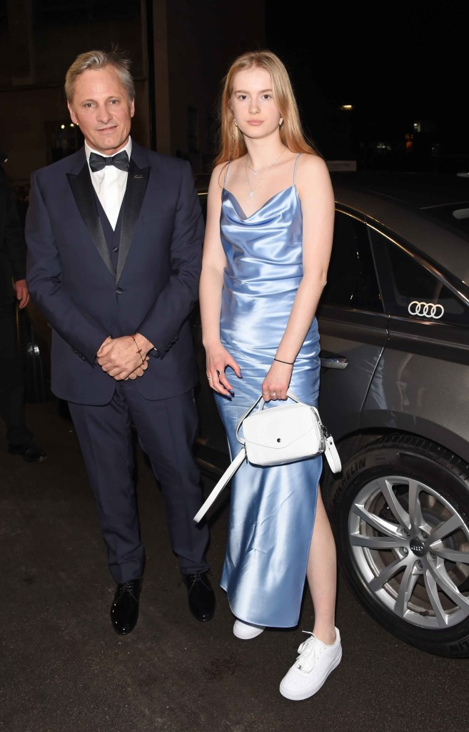 Viggo mortensen & guest arrive in an audi at the ee british academy film awards at the royal albert hall, london, sunday 10 february 2019