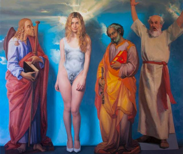 Sj fuerst, the david, 2019, oil on canvas