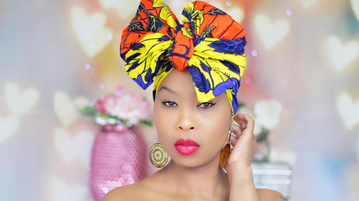Royal head wraps representing uk at africa fashion week