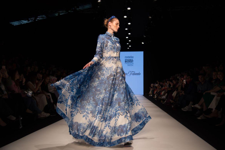 Amina fedorenko at istanbul modest fashion week 2019 day 2
