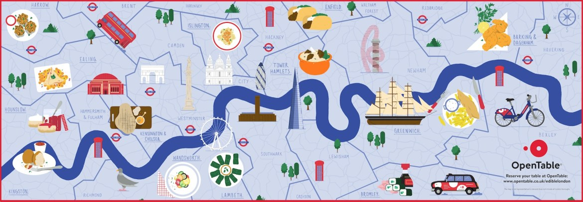 Edible map of london