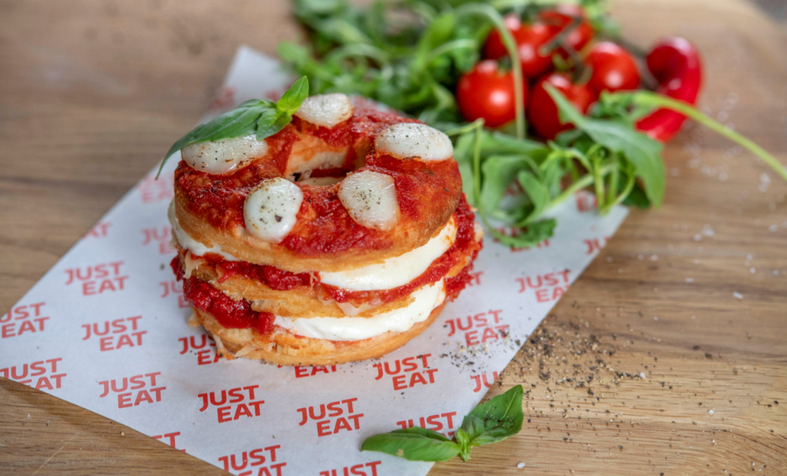 Justeat Margherita Pizza Doughnut