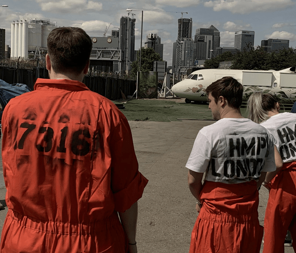 Escape room experience on an airplane flys into london