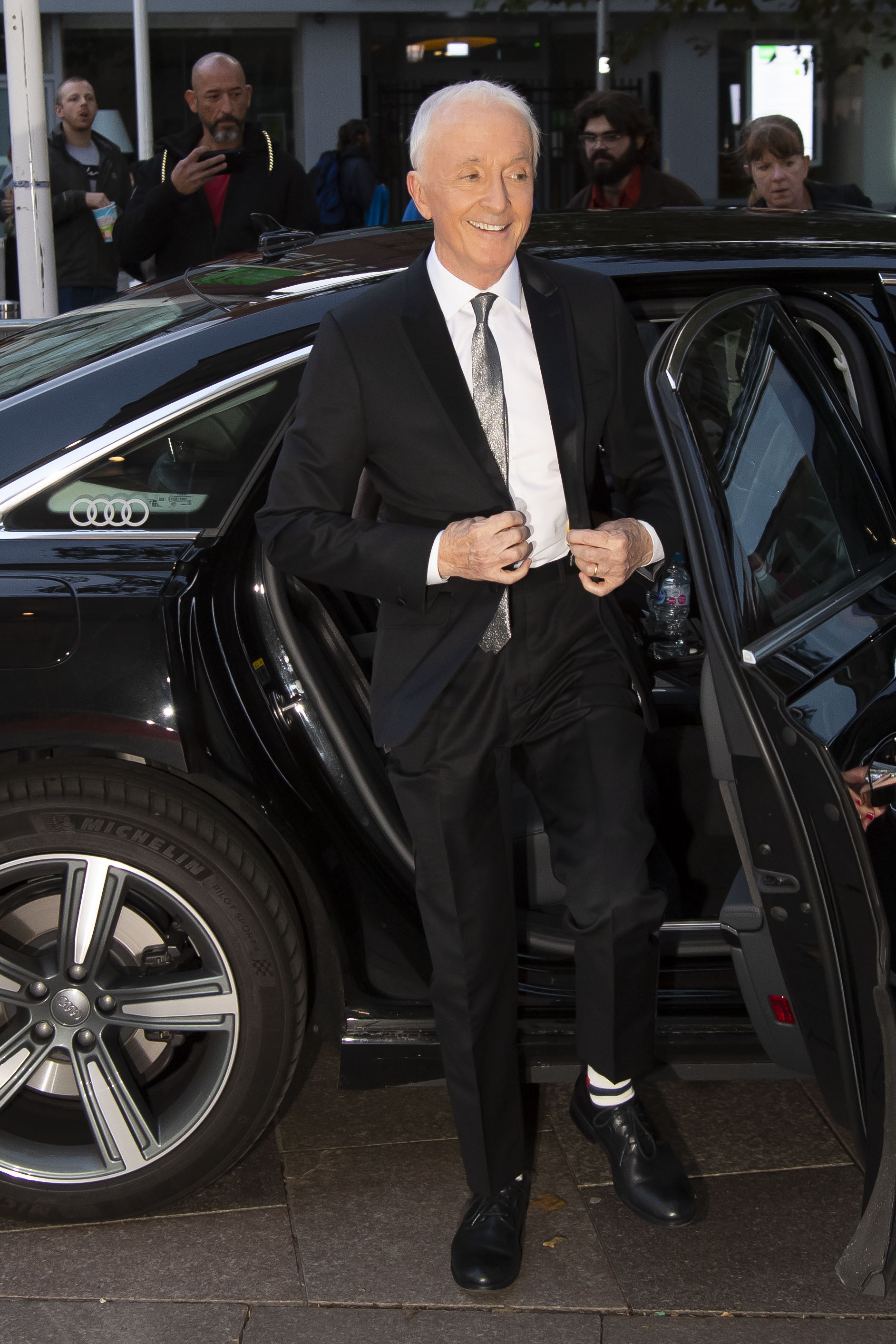Anthony-Daniels-arrives-in-an-Audi-at-the-British-Academy-Cymru-Awards-2019-Cardiff-Sunday-13-October-2019