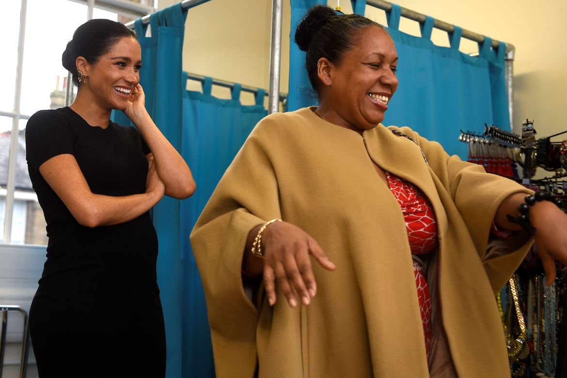 Meghan duchess of sussex picks out clothes with patsy news photo