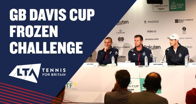 Gb davis cup team frozen challenge