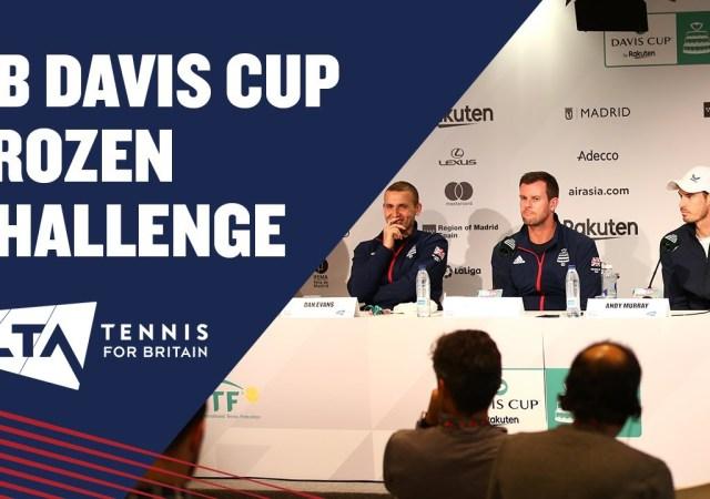 Gb davis cup team frozen challenge