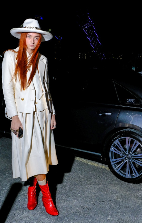 Harris reed arrives in an audi at the gay times honours 500 at magazine london on thursday 21 november 2019