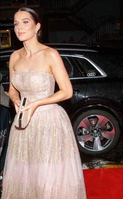 Helen flanagan arrives in an audi at the british academy scotland awards 2019, glasgow, sunday 03 november 2019