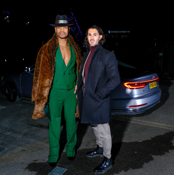 Johannes radebe & graziano di prima arrive in an audi at the gay times honours 500 at magazine london on thursday 21 november 2019